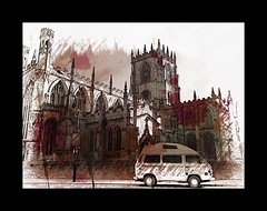 Miss Farnaby at Lincoln Cathedral