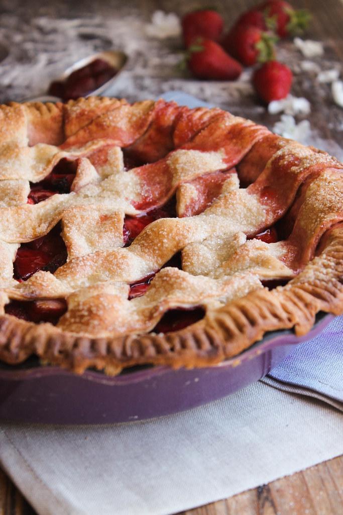 Pie aux fraises vegan