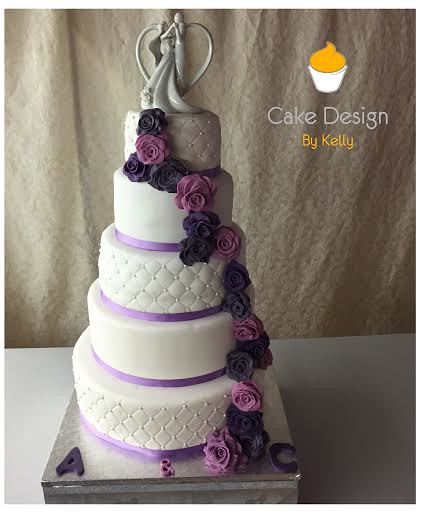 Flower Wedding Cake of Cake design by Kelly