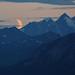 Small photo of Moonset over the Alaska Range.