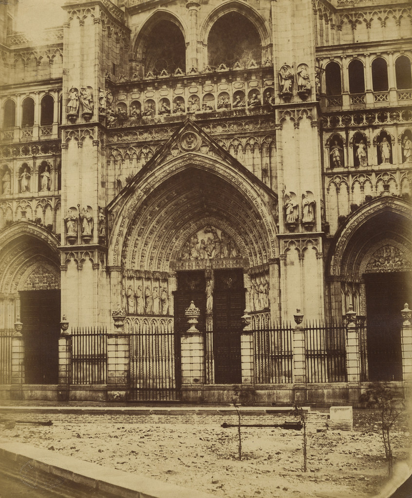 Catedral y Plaza del Ayuntamiento en 1858 por Louis Léon Masson