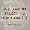 We Love Roleplay Blogger Applications are open!