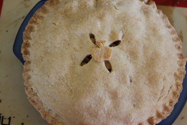 Bake until crust is golden brown & apple filling is bubbling.