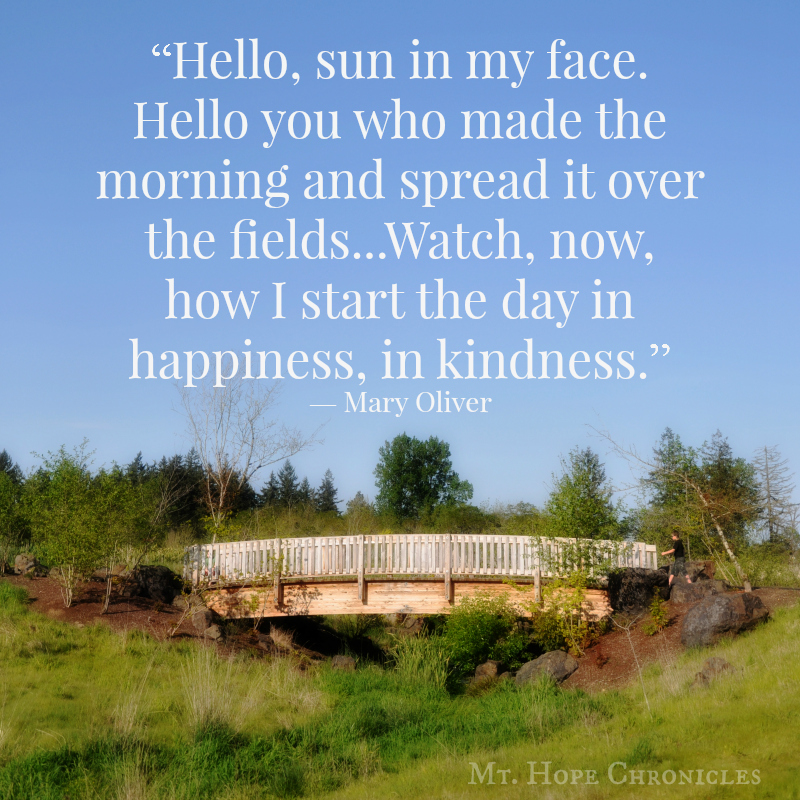 Start the day in kindness @ Mt. Hope Chronicles