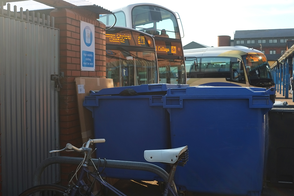 Bicycle Parking at Derry Bus Center