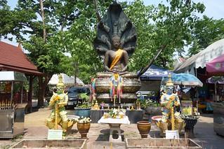 buddha image protected by naga