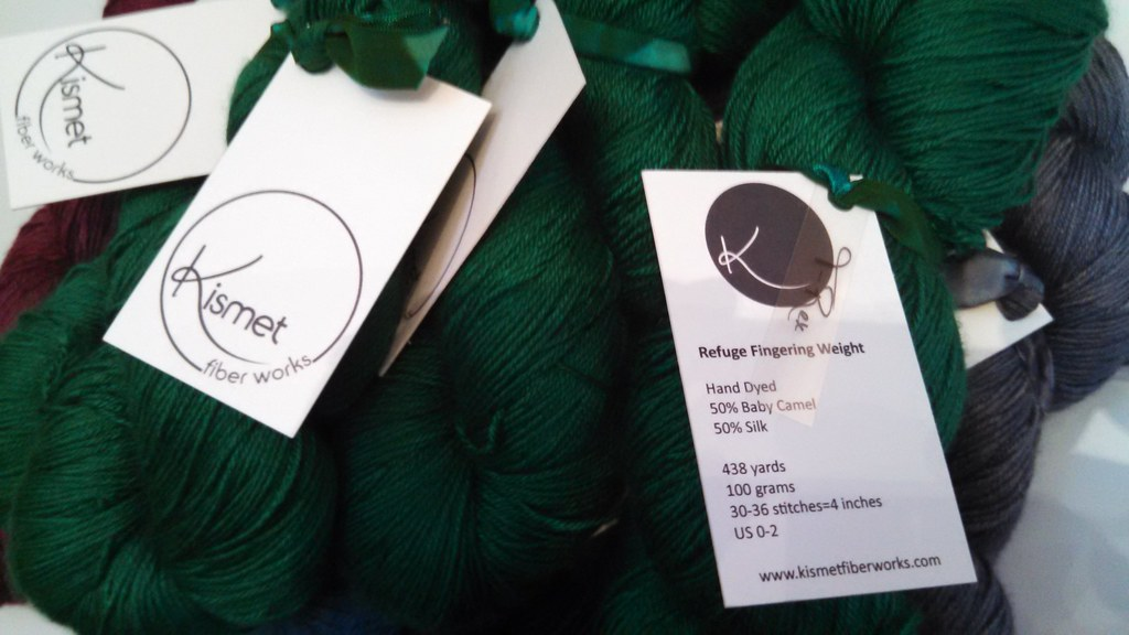 dark green yarn from Kismet Yarns