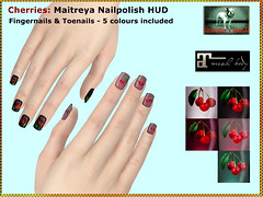Bliensen - Cherries - Maitreya Nailpolish HUD Kopie