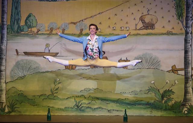 Vadim Muntagirov as Colas in La Fille mal gardée, The Royal Ballet © 2015, ROH. Photo by Tristram Kenton