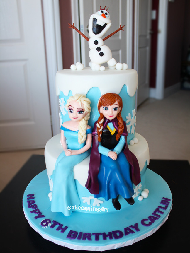 Frozen Elsa And Anna Cake Olaf Figurine Tutorial Www Thec Flickr
