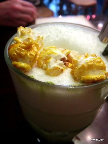 Matcha Popcorn Latte
