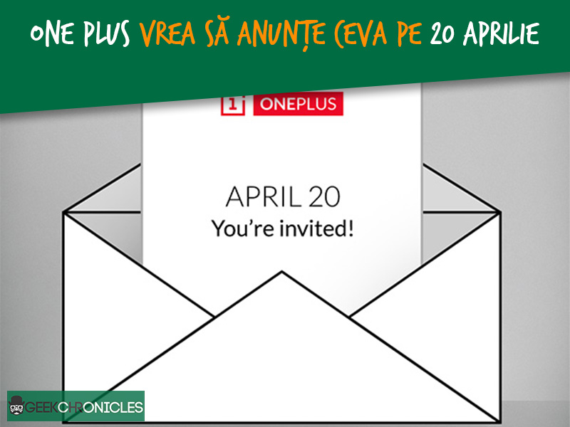 One Plus anunta ceva pe 20 Aprilie