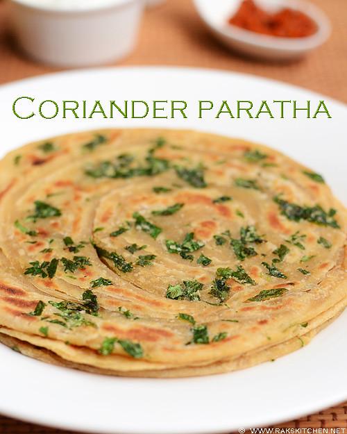 Coriander paratha recipe | Easy paratha recipes