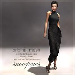 Snowpaws - Ruffle Mesh Dress - Stone