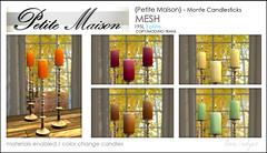 {Petite Maison} - Monte candle sticks