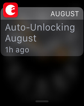 Apple Watch August app notification