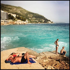 Watching the tide roll away. Dubrovnik, Croatia. May 16, 2015. #iphoneonly