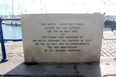 Photo of British Liberating forces stone plaque