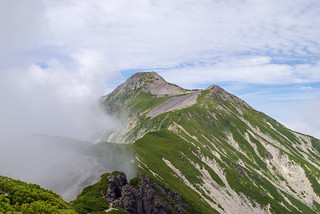 抜戸岩と笠ヶ岳