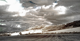 Infra-red View of Westbury White Horse