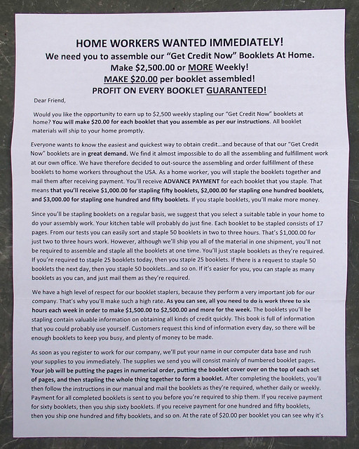 Balboa Mailing Company scam