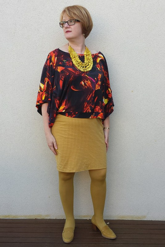 Test sew - Sea Change top by Lily Sage and Co ini viscose jersey from Tessuti