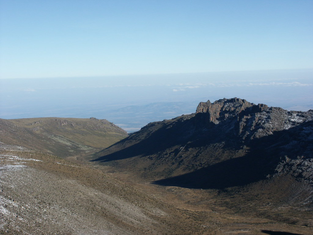 The Mackinder Valley, from the climb to Point Lenana.