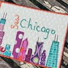 Busy busy today. I love mini projects so fabric postcards are right up my alley! #whatimdoingtoday #miniquilt #sewchicago #chicagoinscraps #greetingsfromchicago #crystallakemqg
