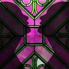 window(0.0), psychedelic art(0.0), kaleidoscope(0.0), glass(0.0), circle(0.0), toy(0.0), pattern(1.0), symmetry(1.0), purple(1.0), line(1.0), design(1.0), pink(1.0), stained glass(1.0),