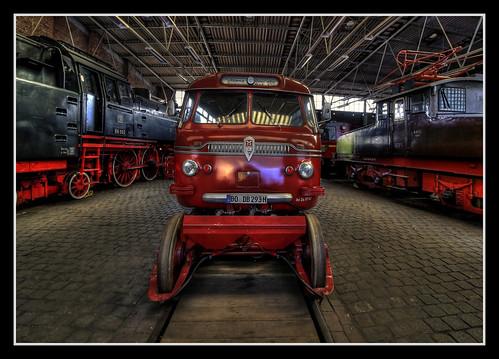 Bochum - Eisenbahnmuseum Dahlhausen Schienen-Straßen-Omnibus BS 300 03