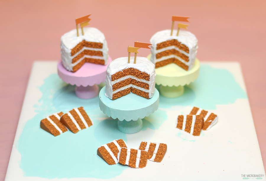 The Micro Bakery polymer clay carrot cake4