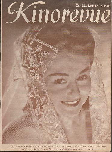 Časopis Kinorevue 1942-43 č. 33, Hana Vítová