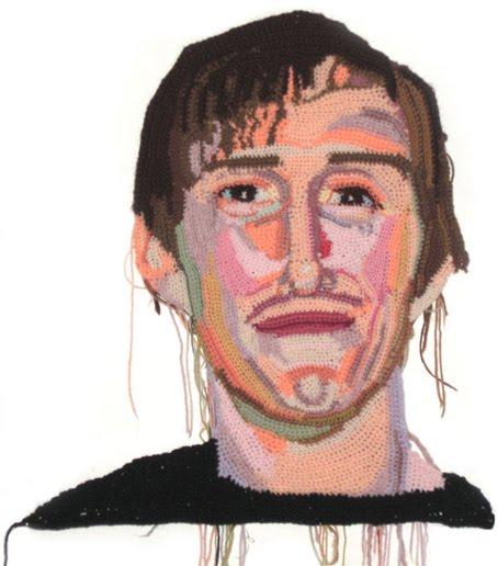 Jon Bones Anderson, crochet portrait by Jo Hamilton | Emma Lamb