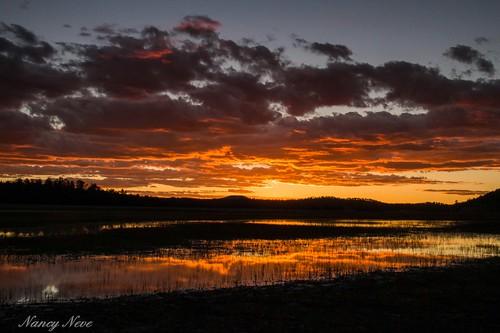 sunset red arizona reflections ngc northernarizona