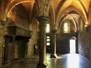 Interior del castillo de los Condes de Flandes en Gante