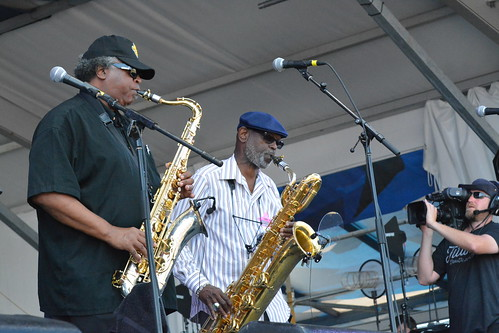 Dirty Dozen Brass Band at Jazz Fest. Photo by Kichea S Burt.