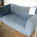 2 seater blue velvet fabric sofa