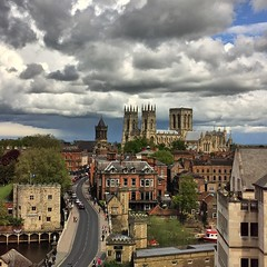 York Minster under a cloudy sky