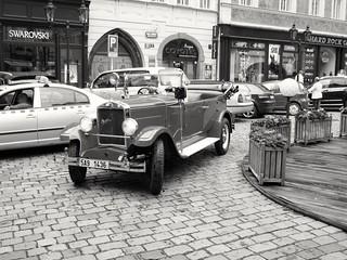 Old car in prague!