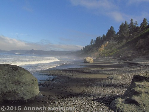 Views north of Ruby Beach in Olympic National Park, Washington