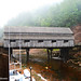 Fog and low tide under the covered bridge, Saint John, New Brunswick, Canada by die Augen