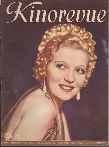 Časopis Kinorevue 1936-37 č. 25, Marta Eggerthová