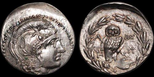 Davisson Lot 11 Attica Athena tetradrachm