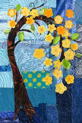 yellow blossom tree