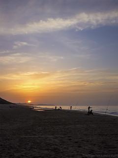 beach sunset in Algiers.