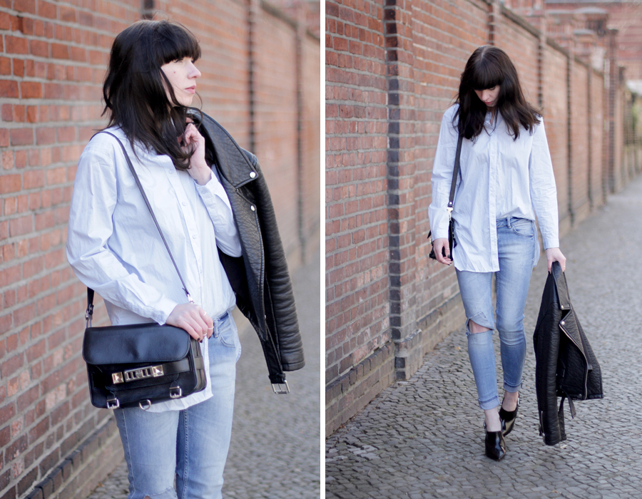 blue jeans outfit styling black bag pointy heels h&m topshop guess proenza schouler zara styling ootd blogger outfitblogger fashionblogger cats & dogs blog ricarda schernus berlin 6