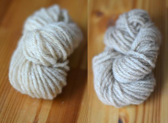 Teinture de laine au thé