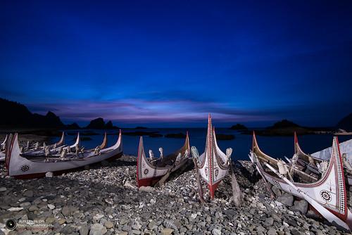 night sunrise boat nikon taiwan d750 nightscene nightview 台灣 台東 taitung 日出 蘭嶼 藍調 東清灣 蘭嶼拼板舟 nikon1635mm kotoisland