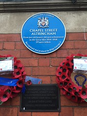 Photo of Chapel Street Altrincham blue plaque