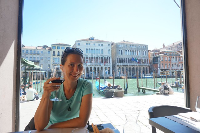 Lunch overlooking the Grand Canal